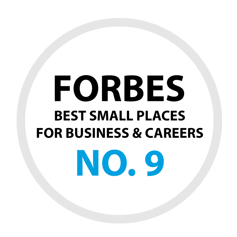 Forbes Best Small Places for Business and Careers - No. 9