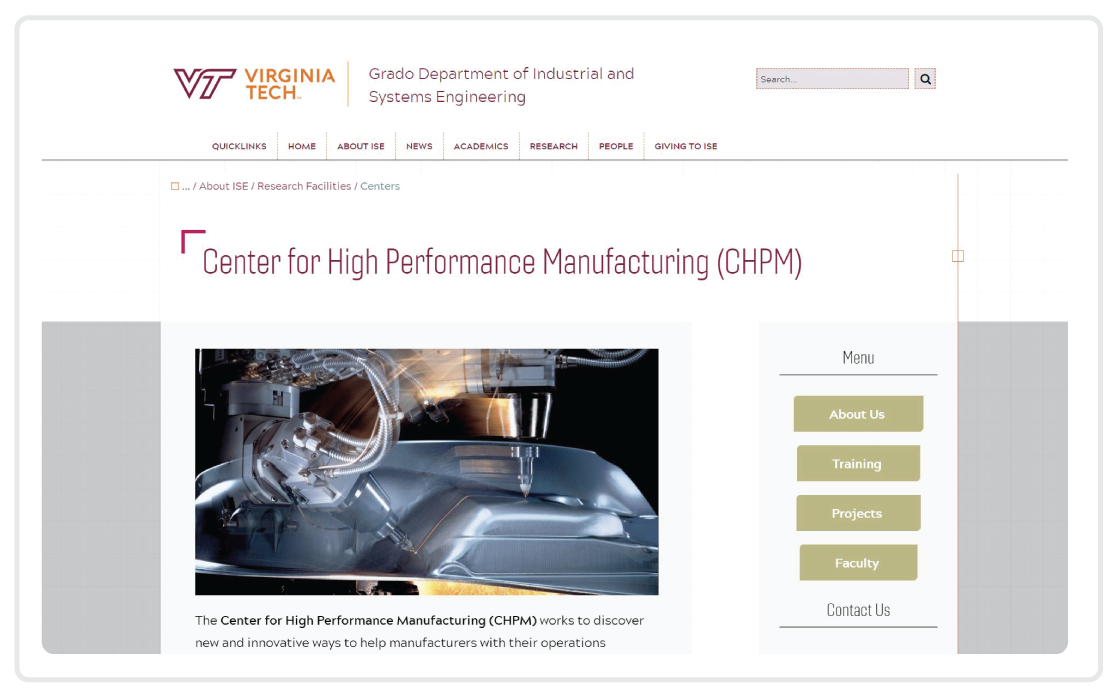 Resources - Virginia Tech Center for High Performance Manufacturing